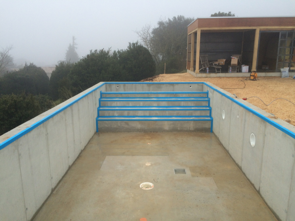 Construction piscine pool conception for Membrane etanche bassin